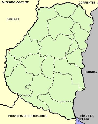 ver mapa político con divisiones de entre erios