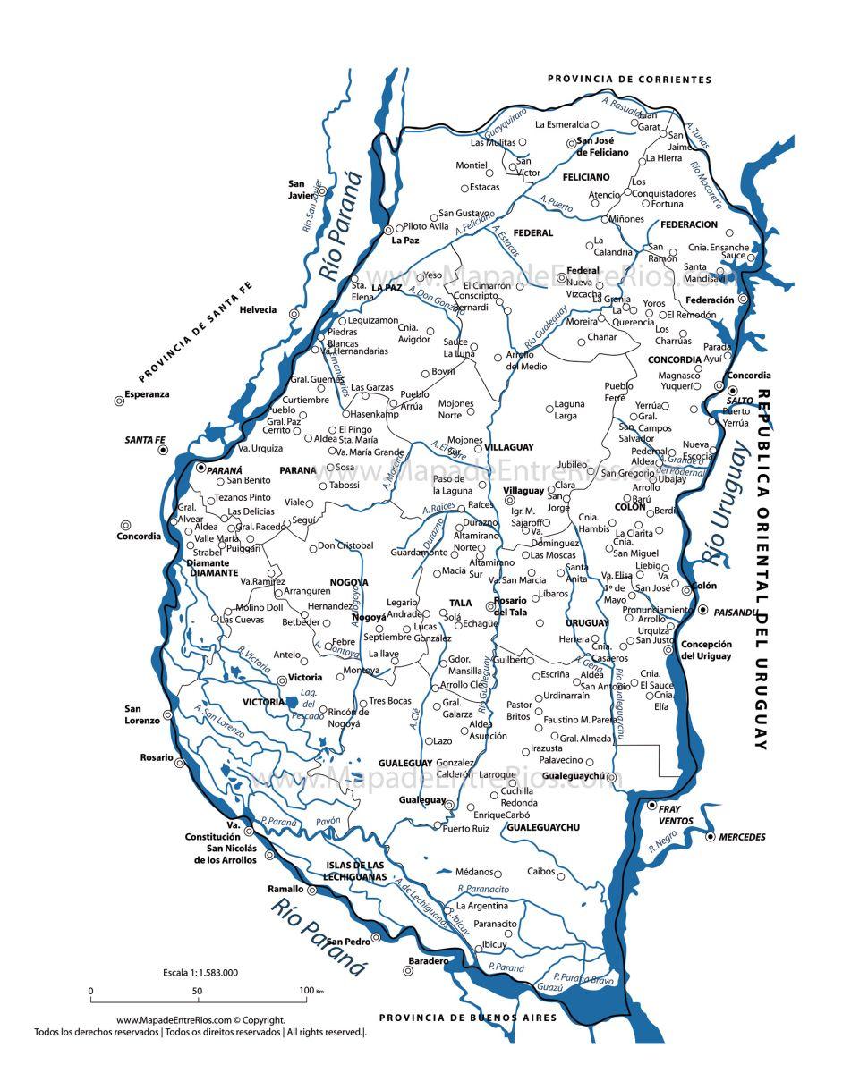 ver mapa de entre rios hidrográfico