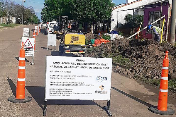 Dieron inicio los trabajos de ampliación de la red de gas natural en Villaguay