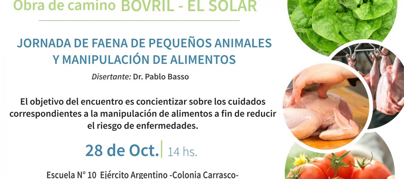 Continúan las capacitaciones en el marco de la obra del camino Bovril - El Solar que impulsa el gobierno provincial